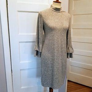 WHBM Flutter Sleeve Knit Dress, Size S